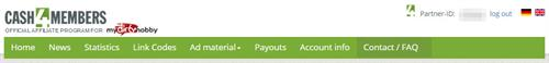 Cash4Members - an Easy-to-Use Affiliate Menu